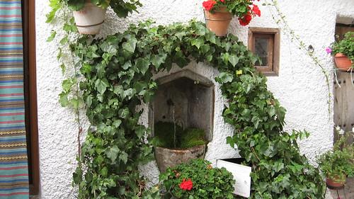 une fontaine du village de Bubión