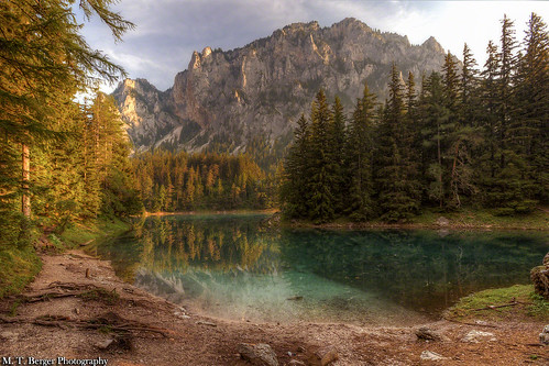 mountain lake water forest landscape austria europe greenlake picturesque crystalclear beautifullandscape mtberger