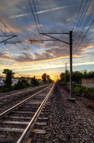 2015 spring train tracks sunset littlesilver nj og hdr 365the2015edition 3652015 day167365 day167 16jun15