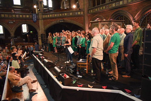 Cecil Sharp House Choir performing at Daylight Music, Union Chapel Islington, 9 July 2016, photo Deena Marcus-Jedamzik