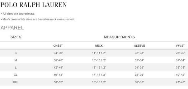Ralph Lauren Size Chart Lucifer2013 Flickr