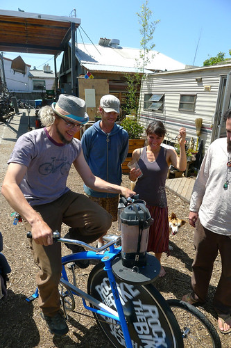 Wishing an awesome festival season to the Sustainable Living Roadshow, who will be bike blending at Symbiosis next weekend. | by Rock The Bike