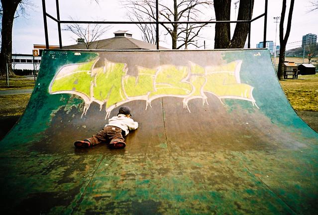 Manu et le skate