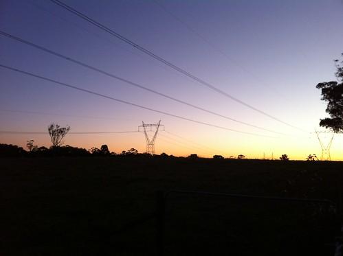 sunset sydney powerline