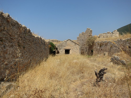 castle ruins wheat greece lefkada