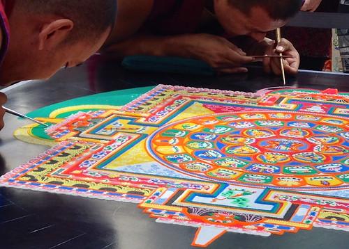 Tibetan Monk sand mandala   by m_hweldon