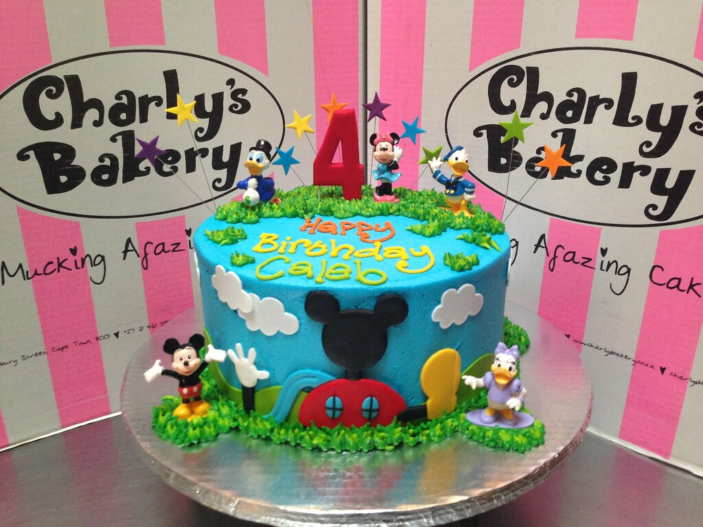 Sensational Mickey Mouse Clubhouse Friends Themed 4Th Birthday Cake Flickr Personalised Birthday Cards Paralily Jamesorg