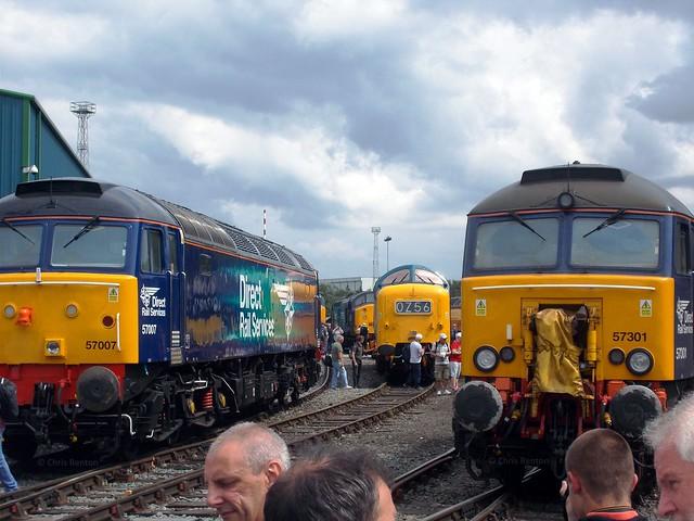 57007, D9009 & 57301 (23-7-16) Crewe Gresty Bridge Open Day