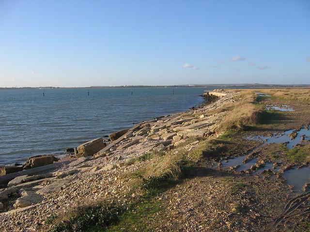 The south coast of Thorney Island