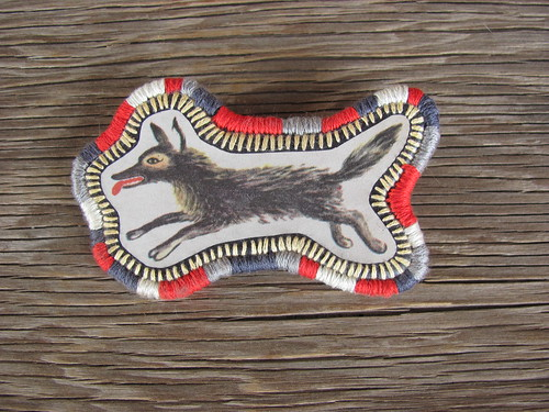 wolf brooch | by 609East