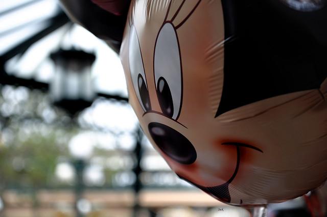 Minnie mouse bokeh