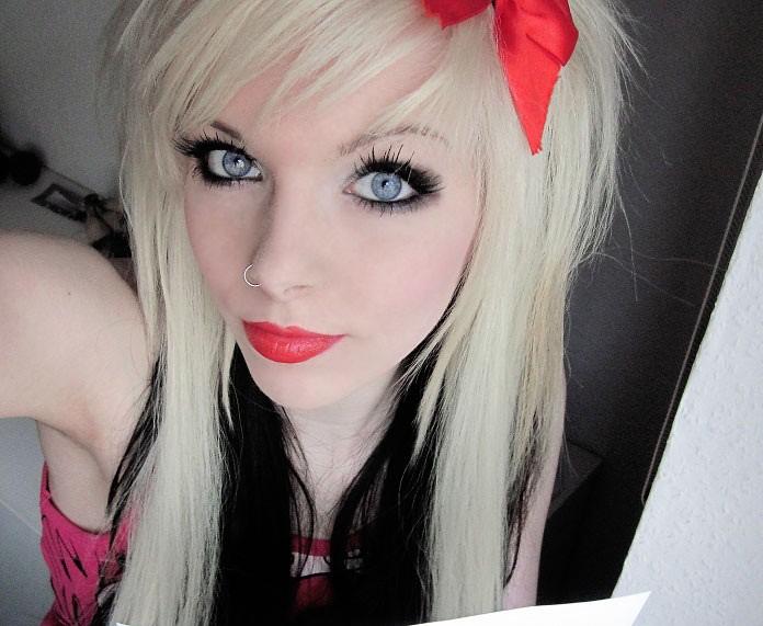 эмо девушка блондинка - 10