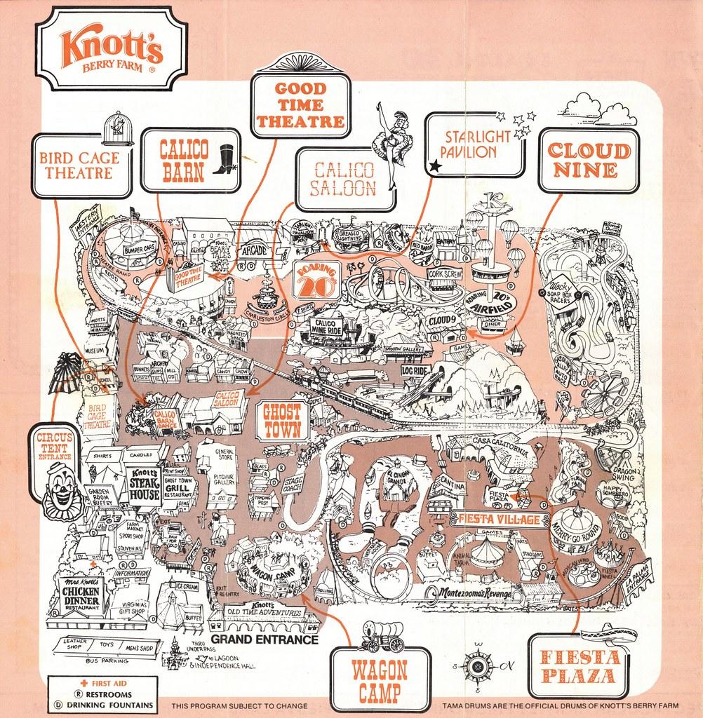 Knott's Berry Farm (1982)   Buena Park, CA © Cedar Fair Imag ... on