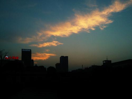 sunset hangzhou xiaoshan