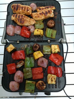 Grilled chipotle and lime chicken and veggies | by RoadTripMemories