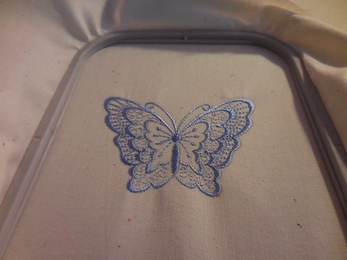 Finished Blue Butterfly | by faithssewingcorner