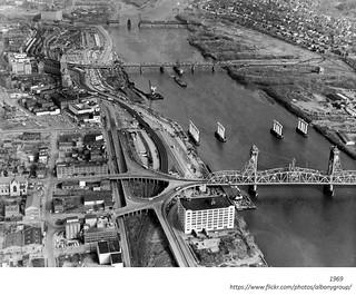 Dunn Memorial Bridge 1969 Albany NY 1960s   by albany group archive
