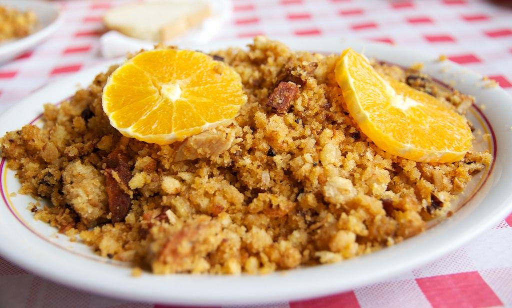Migas con Naranja | Migas con cachitos de lomo y pancetta, a… | Flickr
