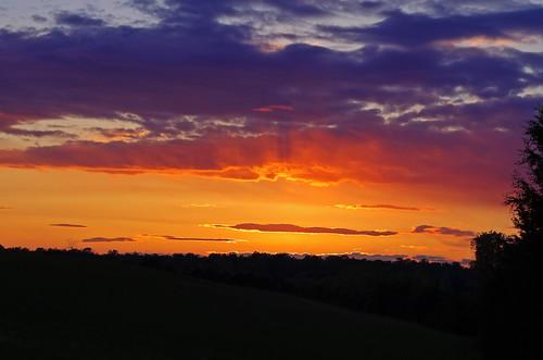 sunset orange virginia countryside pentax horizon va k5 goochland