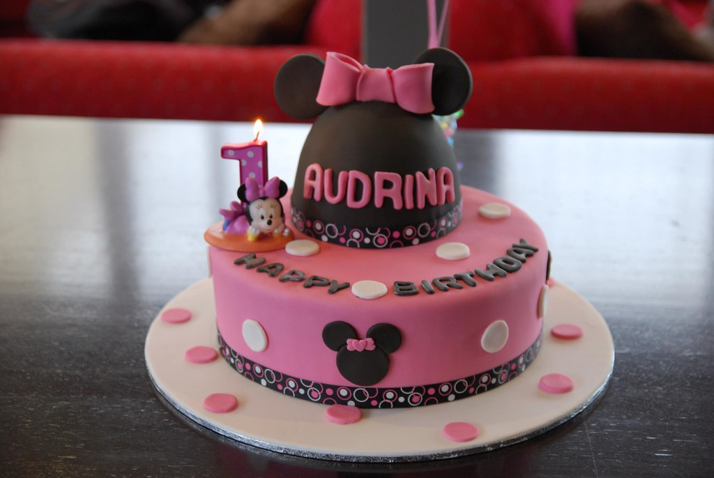Terrific Audrinas 1St Birthday Cake Candle Lit Bj Cakes Cakes C Flickr Funny Birthday Cards Online Sheoxdamsfinfo
