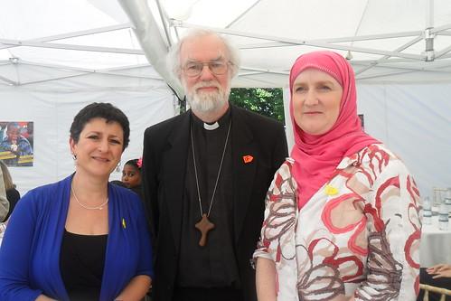 Rabbi Laura, Rowan Williams and Julie Siddiqi | by BritIslam