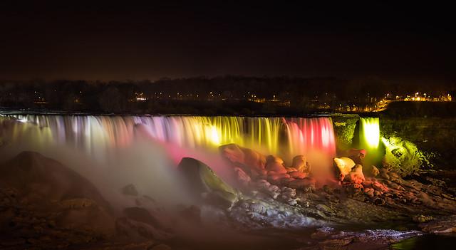 American-Falls-Night