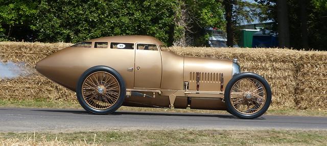 099 1917 Miller Aerodynamic Coupé Golden Submarine rebuild by Buck Boudeman gold r