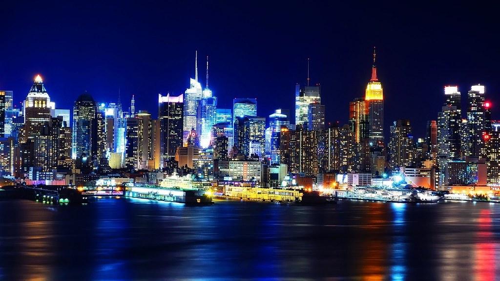 1920x1080 New York City Night Lights Hd Wallpapers Flickr