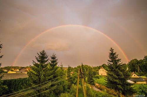 summer storm tree clouds landscape rainbow poland polska tęcza chmury burza lato drzewa krajobraz lowersilesia dolnyśląsk sigma1020456 nikond7000 sulików