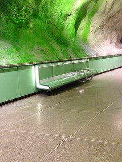 < a curious green bench in the metro > | by Mister.Marken