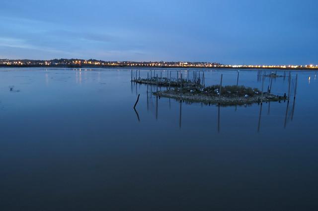 Brownsea Lagoon at dusk