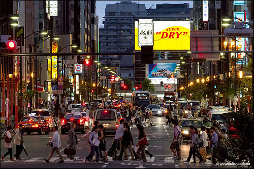 street people cars architecture night sunrise buildings lights tokyo nightshot traffic streetscene asakusa tokio