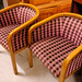 Pink and purple mix fabric club chairs