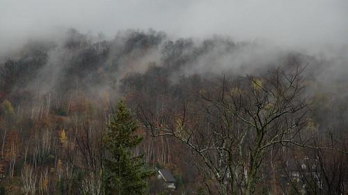piedmont quebec brume montagne automne paysage temps québec