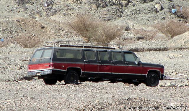 Abandoned GMC Suburban 8-door Stretch Limousine