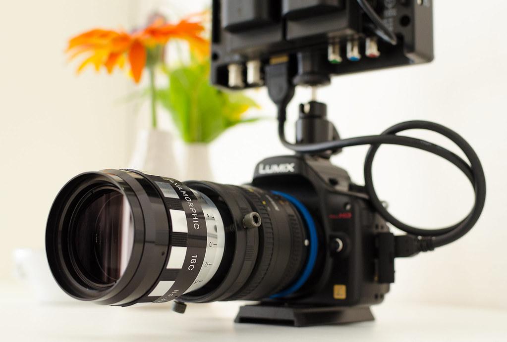 Vintage anamorphic lens setup (Sankor 16C, Nikkor AF 50/1 … | Flickr