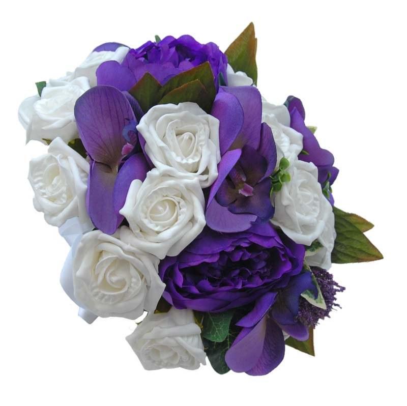 Sarahs Flowers Purple Orchids White Rose Wedding Bouquet Flickr