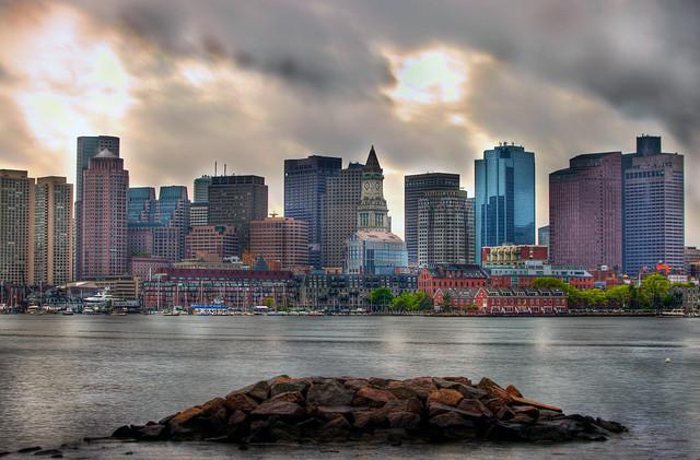 Stormy Boston Skyline