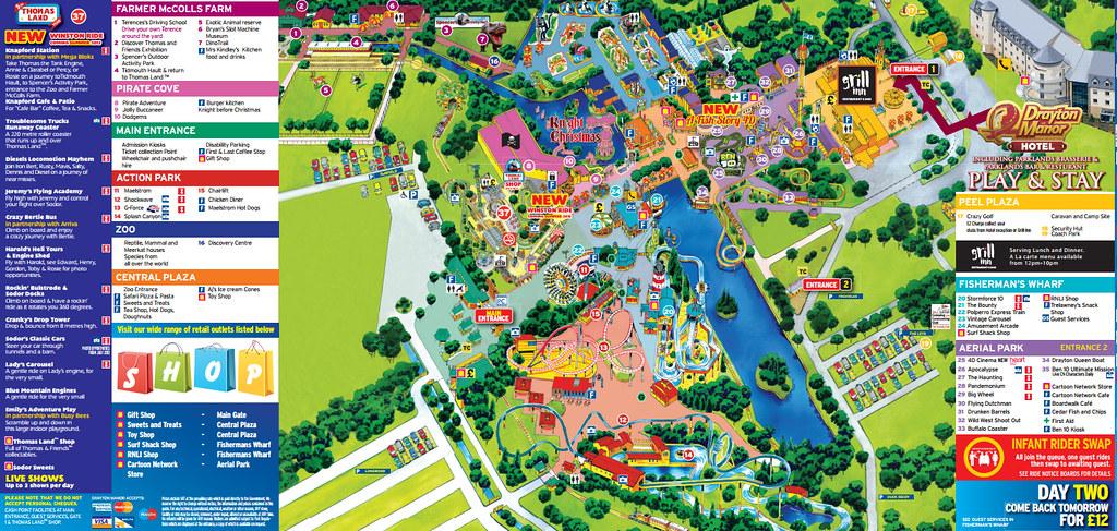 Drayton Manor Map Drayton Manor 2013 Park Map | Drayton Manor 2013 Park Map | Flickr