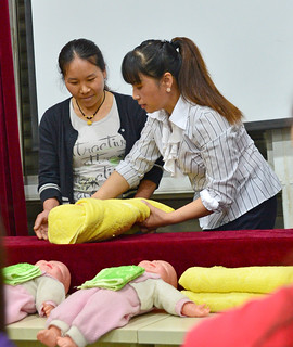 Training in professional baby-care   by World Bank Photo Collection