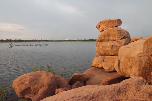 Rocks - Ammenpur Lake, Hyderabad - 5   by Akbar - Web Designer and Freelance Photographer