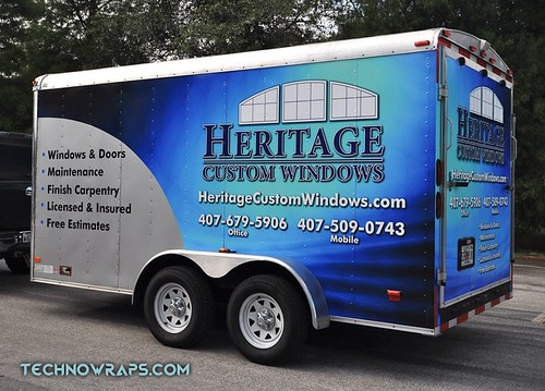 Trailer wrap by TechnoSigns in Orlando, Florida