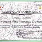 Certificat Normandie