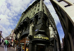 Intertoys, Damrak, Amsterdam [Lofi-Fisheye]