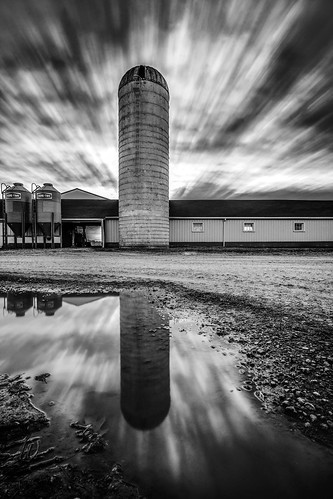 columbus ohio cloud reflection clouds barn sunrise reflections puddle farm barns silo columbusohio farms silos sunrises elliot puddles ferme granja fermes gilfix elliotphotos elliotgilfix
