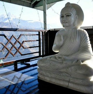 Buddha in the Himalayas.