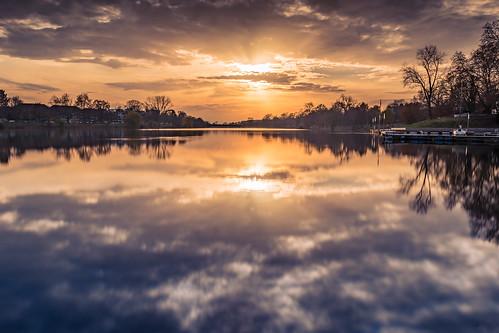 sonnenuntergang longexposure münster ndfilter sunset langzeitbelichtung aasee wasser reflektion