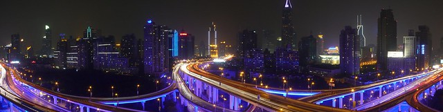 Shanghai - Blue Roads Panorama