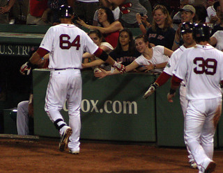 Middlebrooks high-fives fans | by ConfessionalPoet