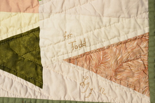 """Leave a Trail"" Quilt label 